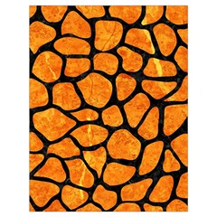 Skin1 Black Marble & Orange Marble Drawstring Bag (large) by trendistuff