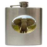 ELEPHANT EARS SPREAD STAINLESS STEEL HIP FLASK (6 OZ)