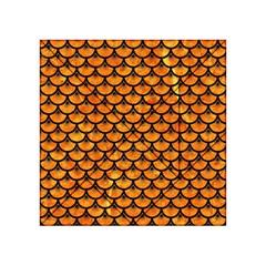 Scales3 Black Marble & Orange Marble (r) Acrylic Tangram Puzzle (4  X 4 ) by trendistuff