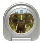 ELEPHANT EARS SPREAD ALARM CLOCK (SILVER)