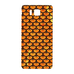 Scales3 Black Marble & Orange Marble (r) Samsung Galaxy Alpha Hardshell Back Case