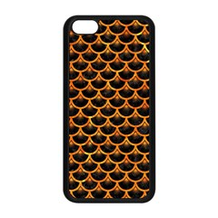 Scales3 Black Marble & Orange Marble Apple Iphone 5c Seamless Case (black) by trendistuff