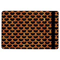 Scales3 Black Marble & Orange Marble Apple Ipad Air 2 Flip Case by trendistuff