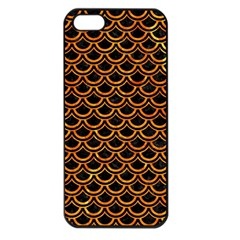 Scales2 Black Marble & Orange Marble Apple Iphone 5 Seamless Case (black) by trendistuff