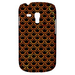 Scales2 Black Marble & Orange Marble Samsung Galaxy S3 Mini I8190 Hardshell Case by trendistuff