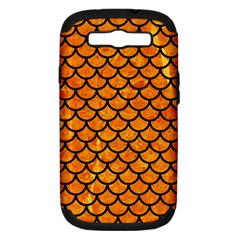 Scales1 Black Marble & Orange Marble (r) Samsung Galaxy S Iii Hardshell Case (pc+silicone) by trendistuff