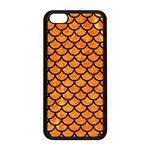 SCALES1 BLACK MARBLE & ORANGE MARBLE (R) Apple iPhone 5C Seamless Case (Black) Front
