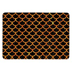 Scales1 Black Marble & Orange Marble Samsung Galaxy Tab 8 9  P7300 Flip Case by trendistuff