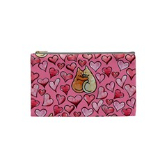Cat Love Valentine Cosmetic Bag (small)  by BubbSnugg