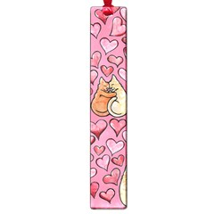 Cat Love Valentine Large Book Marks by BubbSnugg