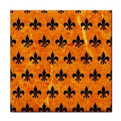 Royal1 Black Marble & Orange Marble Face Towel by trendistuff