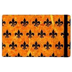Royal1 Black Marble & Orange Marble Apple Ipad 2 Flip Case by trendistuff