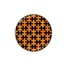 Puzzle1 Black Marble & Orange Marble Hat Clip Ball Marker (4 Pack) by trendistuff