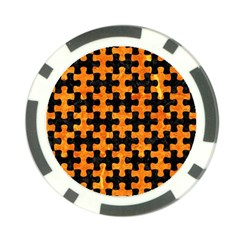 Puzzle1 Black Marble & Orange Marble Poker Chip Card Guard (10 Pack) by trendistuff