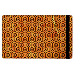 Hexagon1 Black Marble & Orange Marble (r) Apple Ipad 2 Flip Case by trendistuff