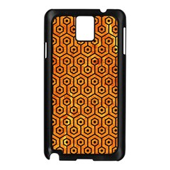 Hexagon1 Black Marble & Orange Marble (r) Samsung Galaxy Note 3 N9005 Case (black) by trendistuff