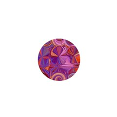 Candy Abstract Pink, Purple, Orange 1  Mini Magnets