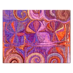 Candy Abstract Pink, Purple, Orange Rectangular Jigsaw Puzzl by theunrulyartist