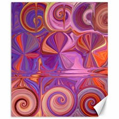 Candy Abstract Pink, Purple, Orange Canvas 8  X 10  by theunrulyartist