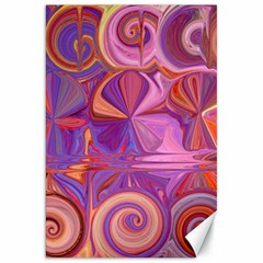 Candy Abstract Pink, Purple, Orange Canvas 20  X 30   by theunrulyartist