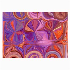 Candy Abstract Pink, Purple, Orange Large Glasses Cloth (2 Side)