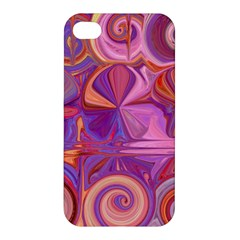 Candy Abstract Pink, Purple, Orange Apple Iphone 4/4s Hardshell Case by theunrulyartist