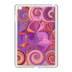 Candy Abstract Pink, Purple, Orange Apple Ipad Mini Case (white) by theunrulyartist