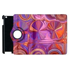 Candy Abstract Pink, Purple, Orange Apple Ipad 3/4 Flip 360 Case by digitaldivadesigns
