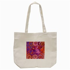 Candy Abstract Pink, Purple, Orange Tote Bag (cream) by theunrulyartist