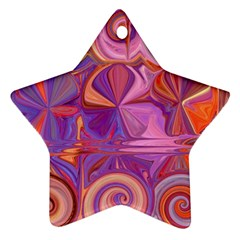 Candy Abstract Pink, Purple, Orange Star Ornament (two Sides)  by theunrulyartist