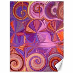 Candy Abstract Pink, Purple, Orange Canvas 36  X 48   by digitaldivadesigns