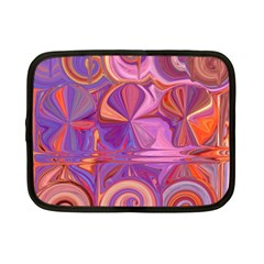 Candy Abstract Pink, Purple, Orange Netbook Case (small)  by theunrulyartist