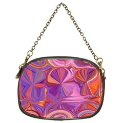 Candy Abstract Pink, Purple, Orange Chain Purses (two Sides)  by digitaldivadesigns