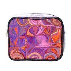 Candy Abstract Pink, Purple, Orange Mini Toiletries Bags by digitaldivadesigns