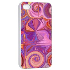 Candy Abstract Pink, Purple, Orange Apple Iphone 4/4s Seamless Case (white) by theunrulyartist