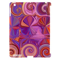 Candy Abstract Pink, Purple, Orange Apple Ipad 3/4 Hardshell Case (compatible With Smart Cover) by theunrulyartist