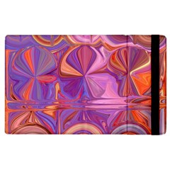 Candy Abstract Pink, Purple, Orange Apple Ipad 3/4 Flip Case by digitaldivadesigns
