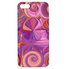 Candy Abstract Pink, Purple, Orange Apple Iphone 5 Hardshell Case With Stand by theunrulyartist
