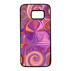 Candy Abstract Pink, Purple, Orange Samsung Galaxy S7 Black Seamless Case by theunrulyartist