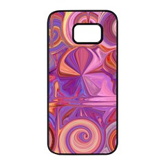 Candy Abstract Pink, Purple, Orange Samsung Galaxy S7 Edge Black Seamless Case by theunrulyartist
