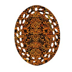 DMS2 BK-OR MARBLE Oval Filigree Ornament (2-Side)  by trendistuff