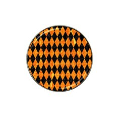 Diamond1 Black Marble & Orange Marble Hat Clip Ball Marker (4 Pack) by trendistuff