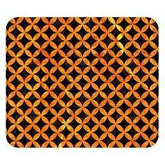 Circles3 Black Marble & Orange Marble Double Sided Flano Blanket (small) by trendistuff