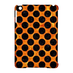 Circles2 Black Marble & Orange Marble (r) Apple Ipad Mini Hardshell Case (compatible With Smart Cover) by trendistuff