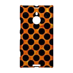 Circles2 Black Marble & Orange Marble (r) Nokia Lumia 1520 Hardshell Case by trendistuff