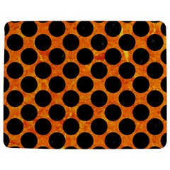 Circles2 Black Marble & Orange Marble (r) Jigsaw Puzzle Photo Stand (rectangular) by trendistuff