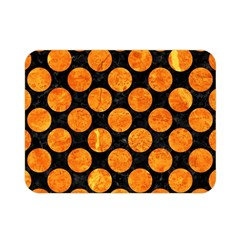 Circles2 Black Marble & Orange Marble Double Sided Flano Blanket (mini) by trendistuff