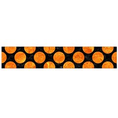 CIR2 BK-OR MARBLE Flano Scarf (Large) by trendistuff