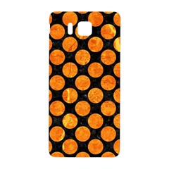 Circles2 Black Marble & Orange Marble Samsung Galaxy Alpha Hardshell Back Case by trendistuff