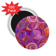 Candy Abstract Pink, Purple, Orange 2 25  Magnets (100 Pack)  by theunrulyartist